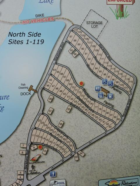 Bay View RV Resort north side map