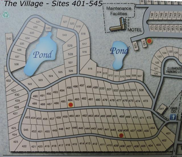 Bay View RV Resort Village site map